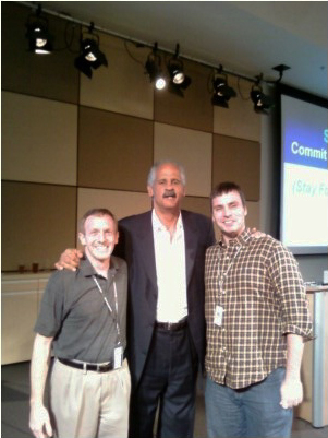 Kenneth Cossin, Stedman Graham, and Robert Parrillo